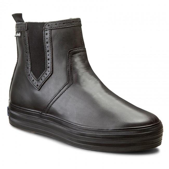 Kotníková obuv s elastickým prvkom KEDS - Triple Chelsea WH54245 Blk/Blk