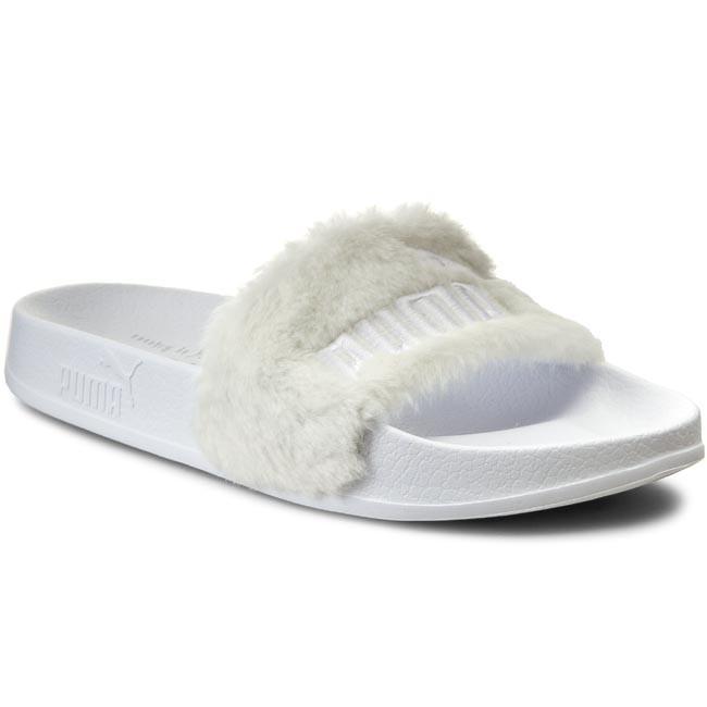 sports shoes a66ab e471d Šľapky PUMA - By Rihanna Leadcat Fenty 362266 02 White/Puma Silver