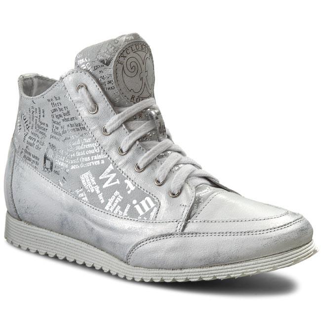 Sneakersy ROBERTO - 513 Srebro/Sr. Gazeta