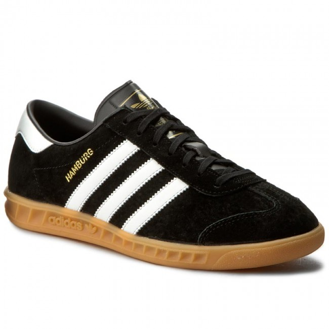 Topánky adidas - Hamburg S76696  Cblack/Ftwwht/Gum2