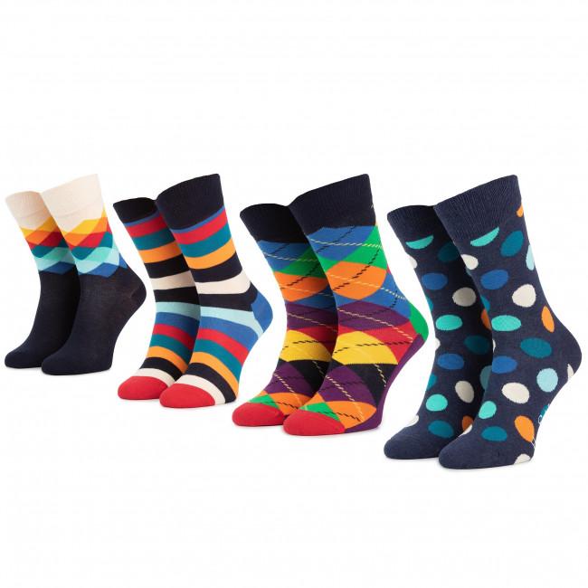 Súprava 4 párov vysokých ponožiek unisex HAPPY SOCKS - XMIX09-6000 Farebná
