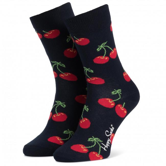 Ponožky Vysoké Unisex HAPPY SOCKS - CHE01-6000 Farebná Tmavo modrá