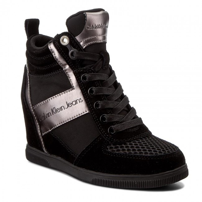 ddd7559c31562 Sneakersy CALVIN KLEIN JEANS - Beth R0648 Black/Pewter - Sneakersy -  Poltopánky - Dámske - eobuv.sk