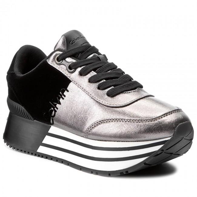 Sneakersy CALVIN KLEIN JEANS - Carlita R0689  Pewter/Black