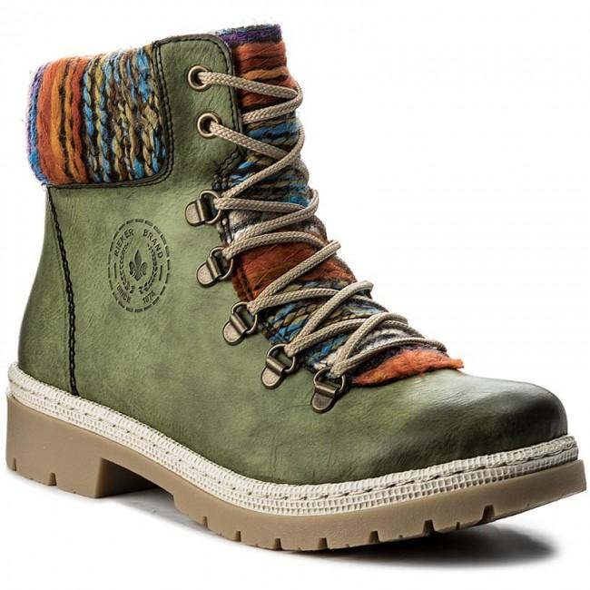 a84c71a317cc9 Členková obuv RIEKER - Y9432-52 Green - Kotníková obuv - Čižmy a iné ...