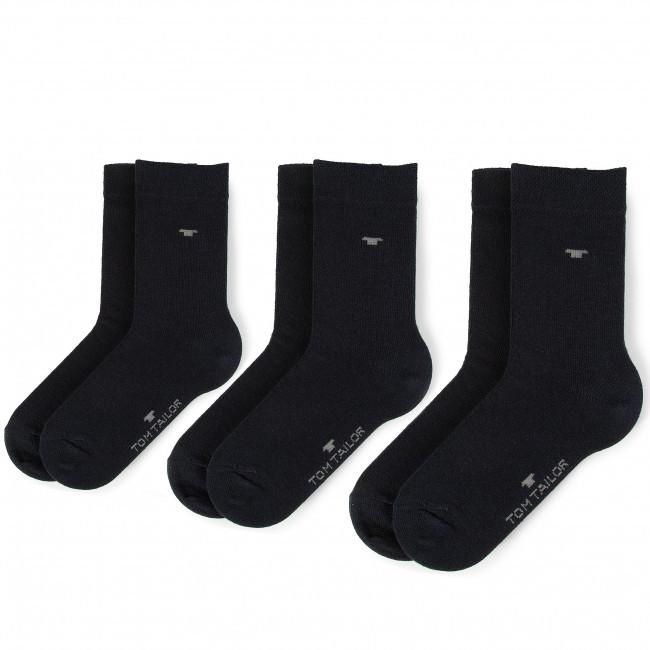 Súprava 3 párov vysokých ponožiek detských TOM TAILOR - 9203  Dark Navy 545
