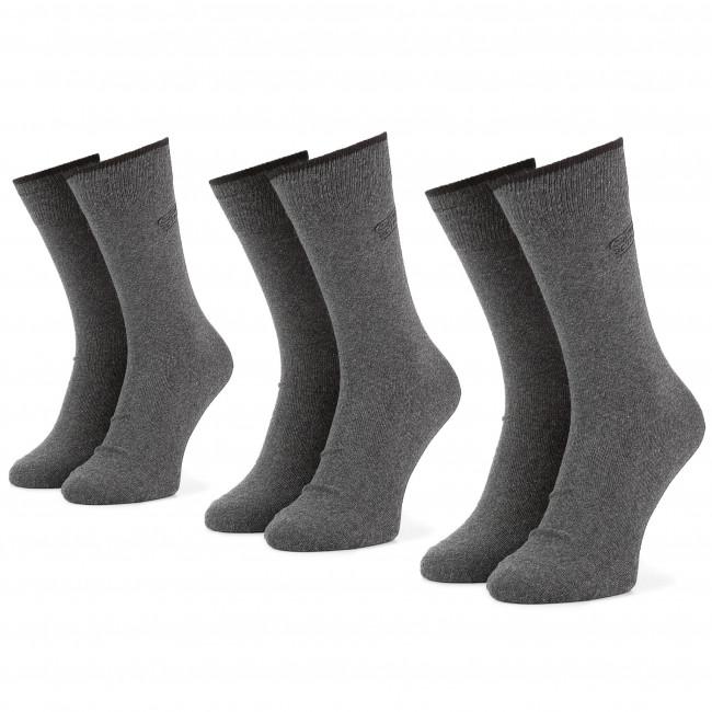 Súprava 3 párov vysokých ponožiek pánskych CAMEL ACTIVE - 6593 Anthracite 620
