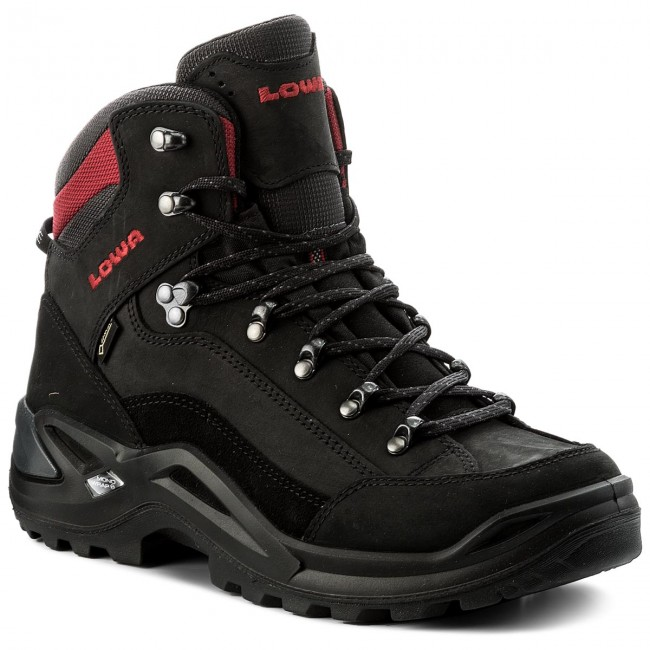 huge discount best price latest Trekingová obuv LOWA - Renegade Gtx Mid GORE-TEX 310945 Schwarz/Rot 9901