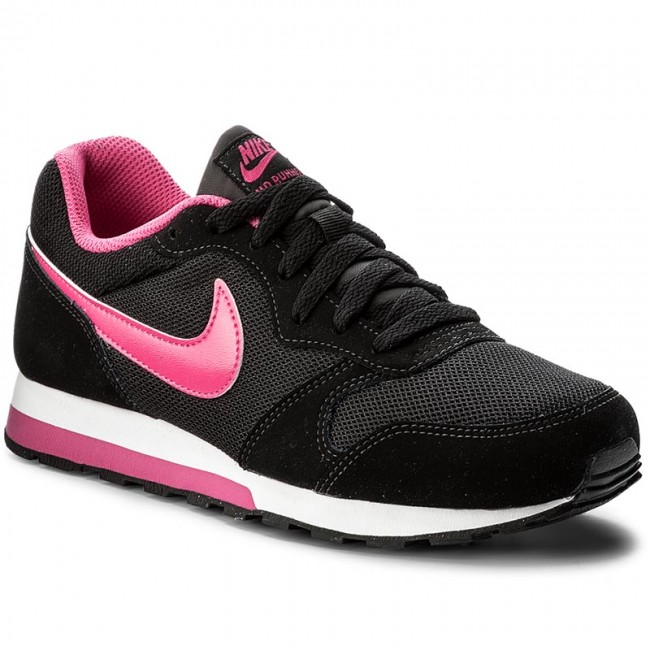21906d474951e Topánky NIKE - Md Runner 2 (GS) 807319 006 Black/Vivid Pink/White ...