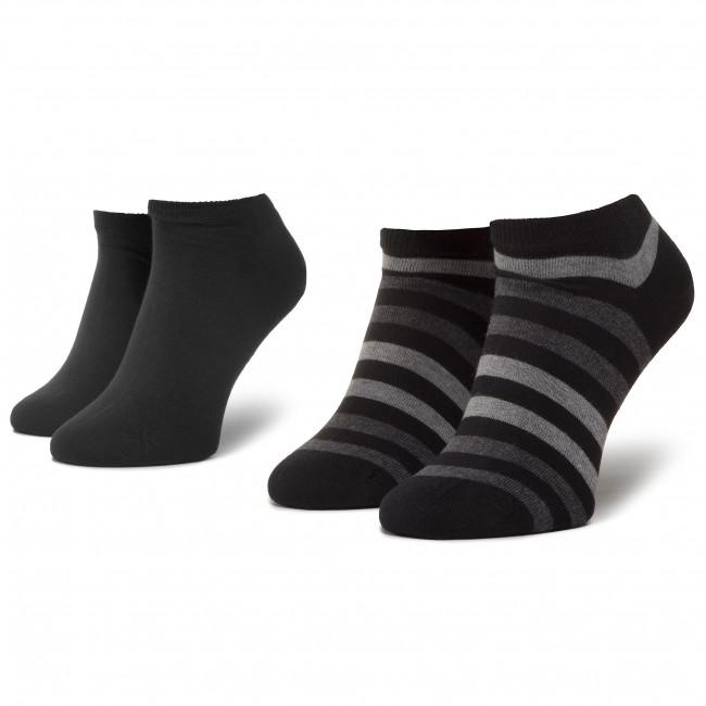 Súprava 2 párov kotníkových ponožiek unisex TOMMY HILFIGER - 382000001 Black 200