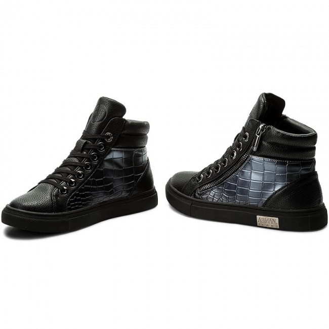 be8df099c Sneakersy ARMANI JEANS - 925000 7A662 40820 Gun Metal - Sneakersy ...