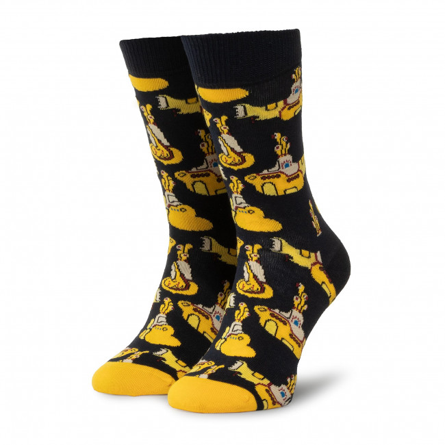 Ponožky Vysoké Unisex HAPPY SOCKS - BEA01-6000 Tmavo modrá Žltá