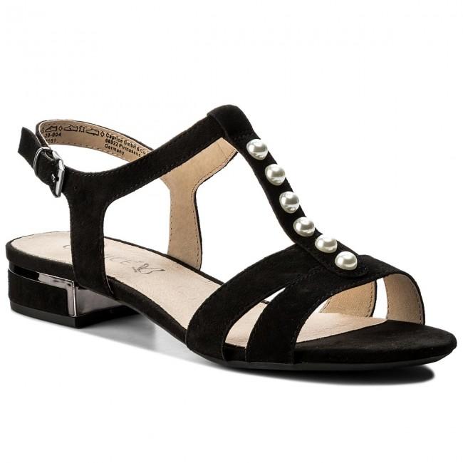 3c7a193c4 Sandále CAPRICE - 9-28104-20 Black Suede 004 - Sandále na každodenné ...