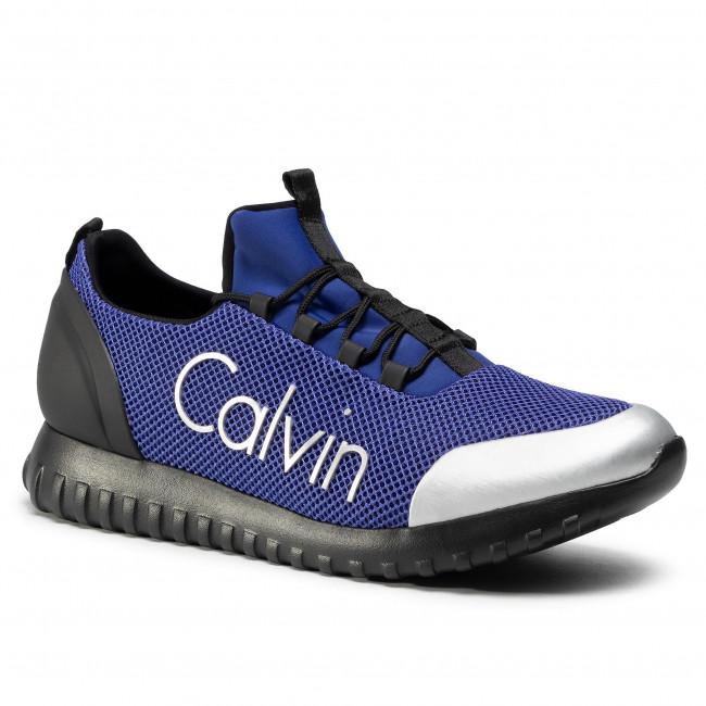Sneakersy CALVIN KLEIN JEANS - Ron S0506 Steel Blue/Silver
