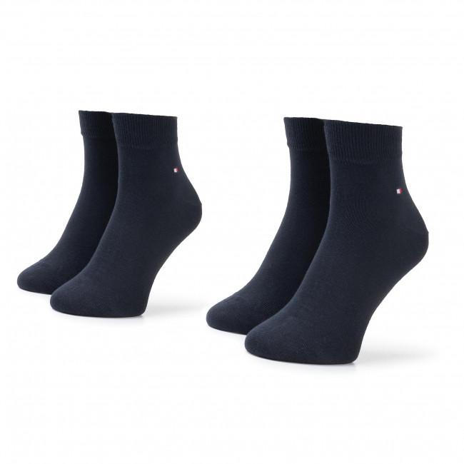 Súprava 2 párov kotníkových ponožiek pánských TOMMY HILFIGER - 342025001 Dark Navy 322
