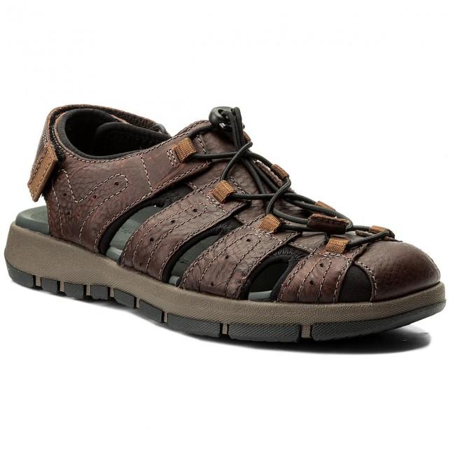 Sandále CLARKS - Brixby Cove 261315217 Dark Brown Leather