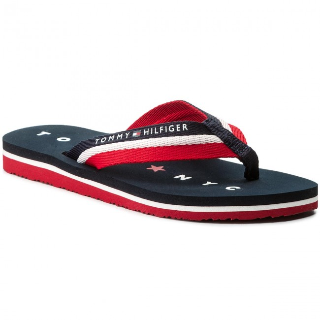 Žabky TOMMY HILFIGER - Tommy Loves Ny Beach Sandal FW0FW02370 Midnight 403