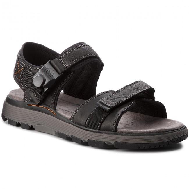 Sandále CLARKS - Un Trek Part 261326127  Black Leather