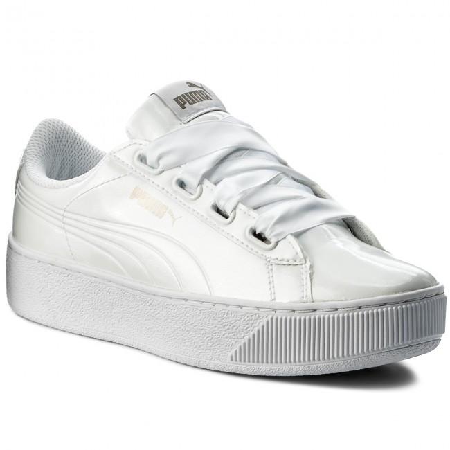 646b1ece8db Sneakersy PUMA - Vikky Platform Ribbon P 366419 02 Puma White/Puma White