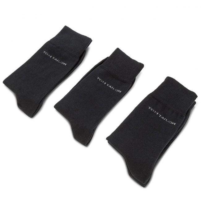 Súprava 3 párov vysokých ponožiek pánskych TOM TAILOR - 9003 Dark Navy 545