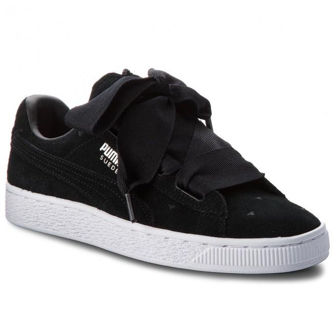 da0c8c355d922 Sneakersy PUMA - Suede Heart Valentine Jr 365135 02 Puma Black/Puma Black