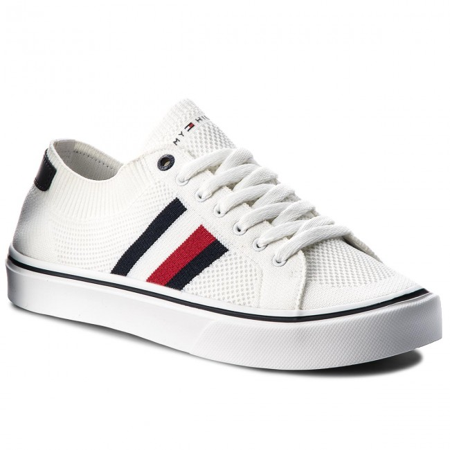 e158b4261b3e9 Tenisky TOMMY HILFIGER - Lightweight Corporate Sneaker FM0FM01619 White 100  - Plátenky a tenisky - Poltopánky - Pánske - eobuv.sk