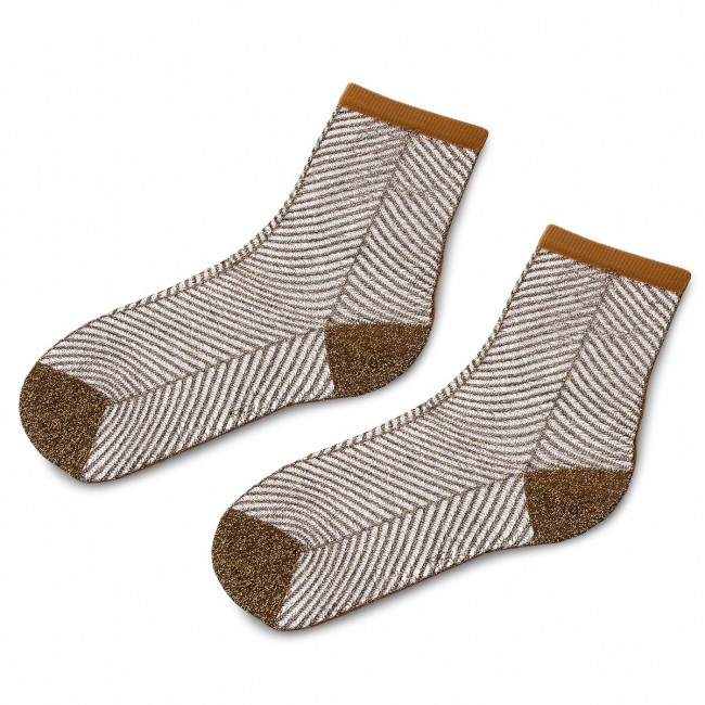 Ponožky Vysoké Dámske TWINSET - Calza OA8T3C  Hnedá