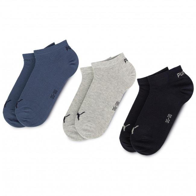 Súprava 3 párov kotníkových ponožiek dámskych PUMA - 261080001 Navy/Grey/Nightshadow Blue 532