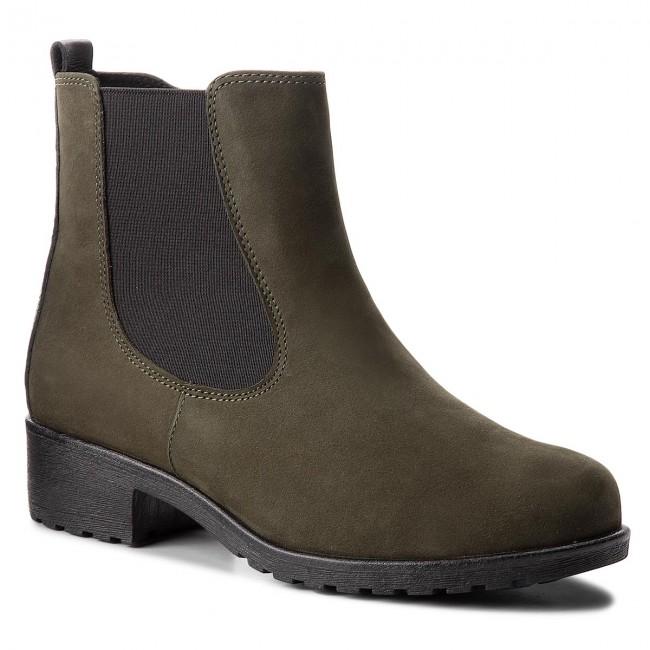 Členková obuv CAPRICE - 9-26414-21 Khaki Nubuc C. 703