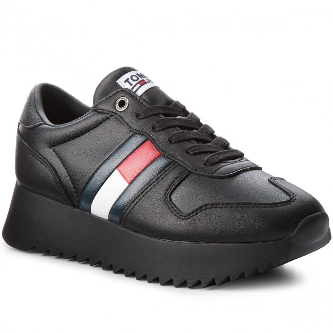 Sneakersy TOMMY JEANS - High Cleated Sneaker EN0EN01265 Black 990
