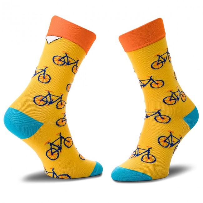 Ponožky Vysoké Unisex CUP OF SOX - Epickie Rowerowe Dyrdymałki A Farebná Žltá