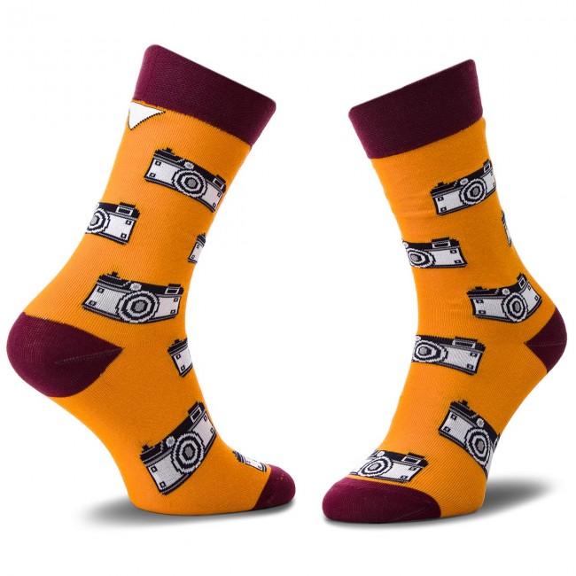 Ponožky Vysoké Unisex CUP OF SOX - Foto SOXy Klawe Że Hej! B Farebná Oranžová