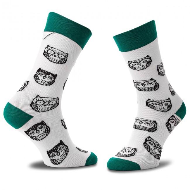 Ponožky Vysoké Unisex CUP OF SOX - Kolekcja Co Za Szycie A Biela