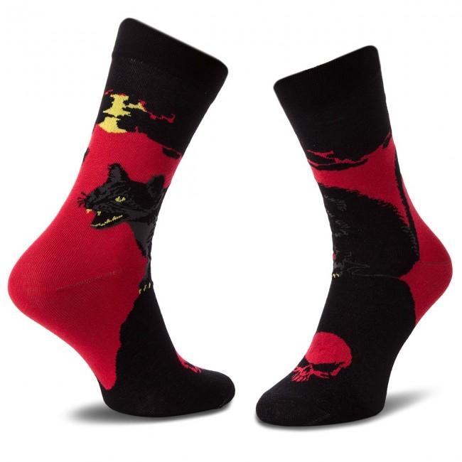 Ponožky Vysoké Unisex CUP OF SOX - One Evil Eye C Červená Čierna