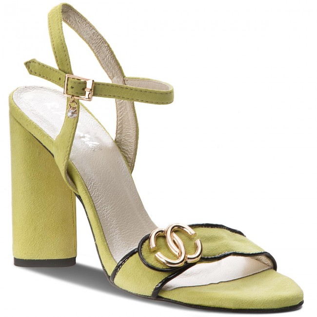 Sandále R.POLAŃSKI - 0874 Limonka Zamsz
