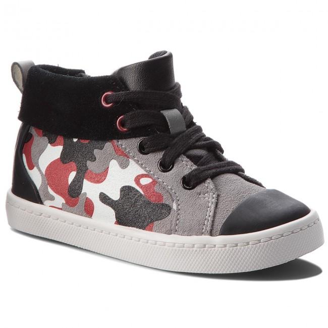 Outdoorová obuv CLARKS - City Vine Hi 261377176 Red Camo