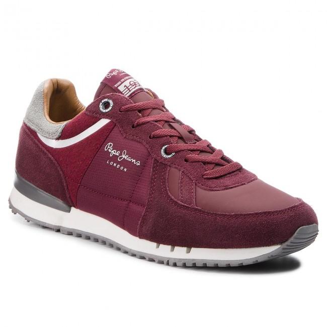 Sneakersy PEPE JEANS - Tinker 1973 PMS30484 Bordeaux 298