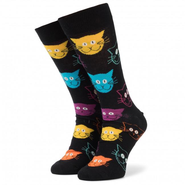 Ponožky Vysoké Unisex HAPPY SOCKS - MJA01-9001 Čierna