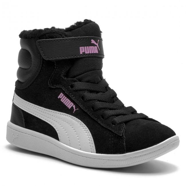40cd6b9731536 Outdoorová obuv PUMA - Vikky Mid Fur V PS 366854 01 Puma Black/Puma White -  Topánky - Čižmy a iné - Chlapec - Detské - eobuv.sk