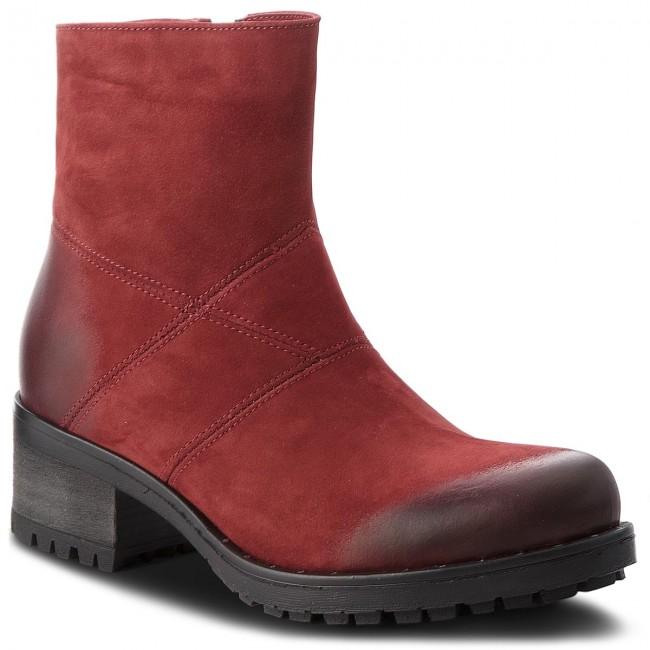 Členková obuv R.POLAŃSKI - 0950 Bordo Nubuk