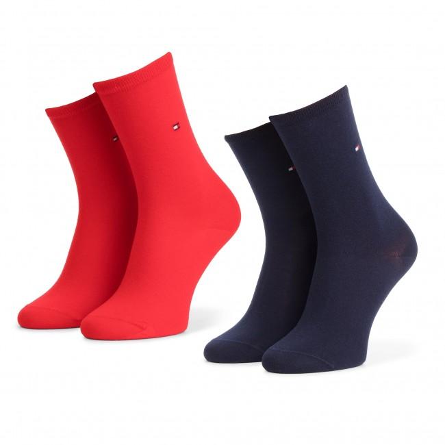 Súprava 2 párov vysokých ponožiek dámskych TOMMY HILFIGER - 371221 Red 684
