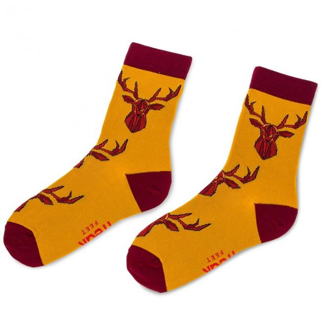 Ponožky Vysoké Unisex FREAK FEET - LJEL-MBR Farebná Žltá