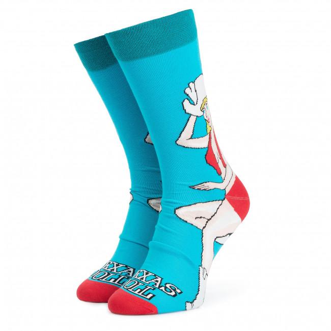 Ponožky Vysoké Unisex CUP OF SOX - Texas Doll A Modrá