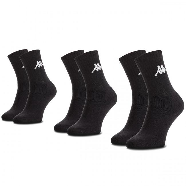 Súprava 3 párov vysokých ponožiek unisex KAPPA - Sonotu 704304 Black 005