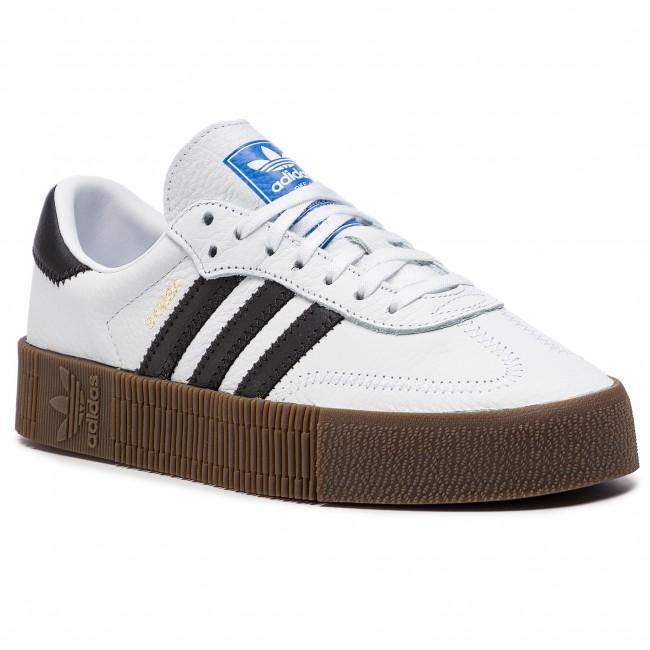 Topánky adidas - Sambarose W AQ1134 Ftwwht/Cblack/Gum5