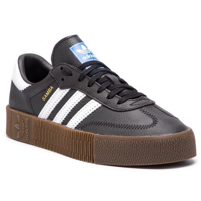 Topánky adidas - Sambarose W B28156 Cblack/Ftwwht/Gum5