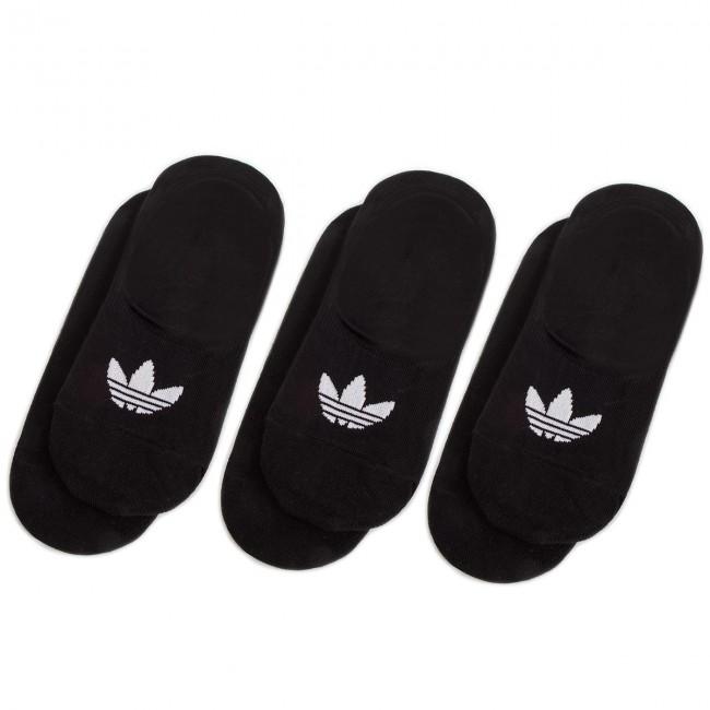 Súprava 3 párov krátkych ponožiek unisex adidas - No Show Sock 3P DW4132 Black/Black/Black