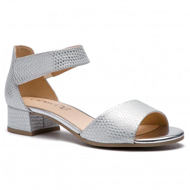 4cf517e32 Sandále CAPRICE - 9-28212-22 Silver Struct 945 - Sandále na ...