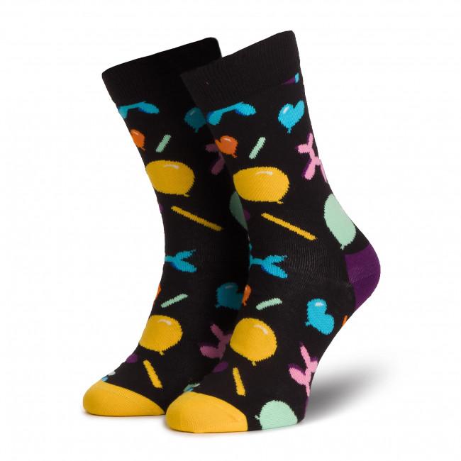 Ponožky Vysoké Unisex HAPPY SOCKS - BAS01-9300 Čierna Farebná
