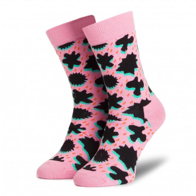 Ponožky Vysoké Unisex HAPPY SOCKS - CRS01-3300 Farebná Ružová